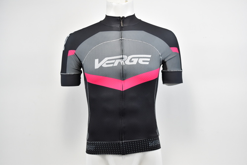 Brand New Verge Men/'s Primo Euro Long S//S Cycling Jersey White//Black//Carbon L