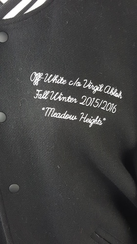 9959d7a03e2b Off-White C O Virgil Abloh Black Meadow Heights Bomber Varsity ...