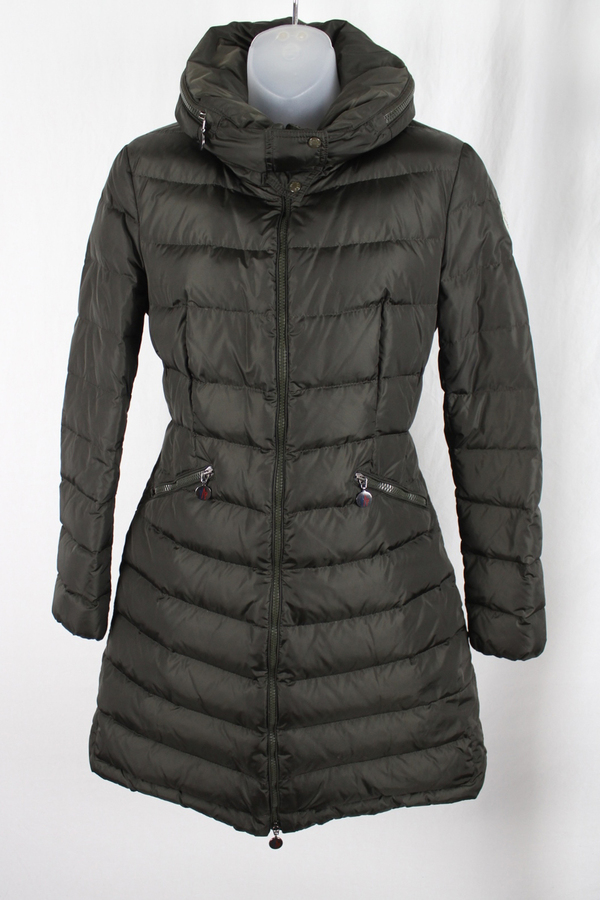 Moncler Women's Olive Green Aammelte Hood Quilted Puffer ...
