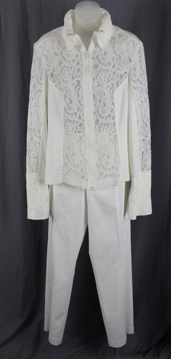 Anatomie Women\'s Ivory Lace Accent Pant Suit Size XL | eBay