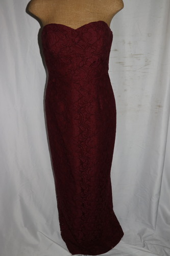 Women\'s Evening Gown J. Crew Size 4 Maroon Long Formal Stitched ...
