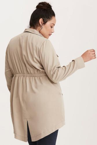 c9c94dfdf86 Torrid Drape Twill Anorak Jacket Roasted Cashew Color Women s Plus Size  M L 10