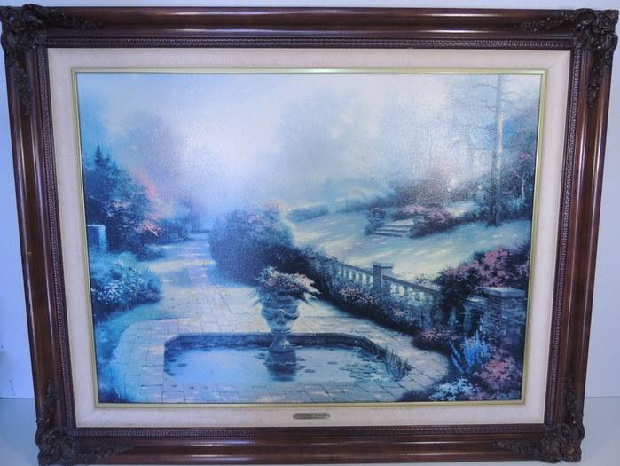 Thomas Kinkade Gardens Beyond Autumn Gate Canvas Coa Limited Edition