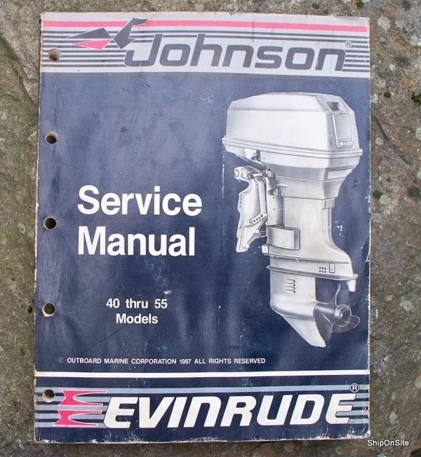 1988 OMC Johnson Evinrude 40 thru 55 Outboard Marine Service