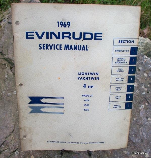 1969 evinrude 4 hp lightwin yachtwin outboard motor service manual rh ebay com evinrude lightwin 3 hp manual pdf Evinrude Lightwin 4 HP
