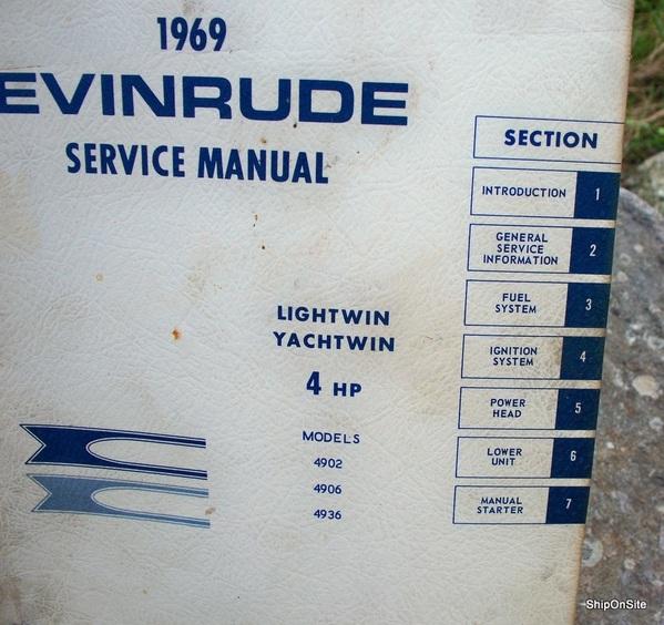 1969 evinrude 4 hp lightwin yachtwin outboard motor service manual rh ebay com outboard motor service manual online outboard motor service manual