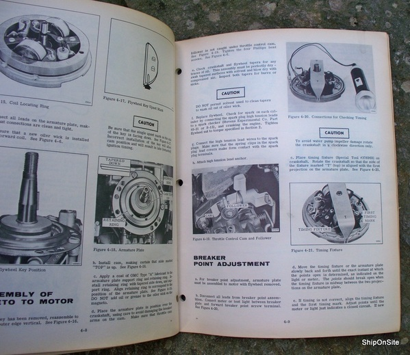 1969 evinrude 4 hp lightwin yachtwin outboard motor service manual rh ebay com
