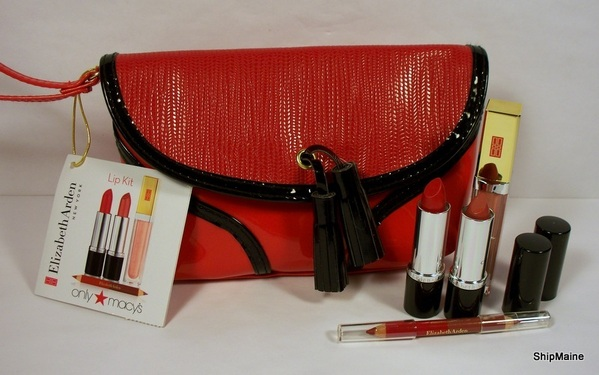 MACY'S Elizabeth Arden Holiday Lip Kit Gift Set - Bright Red | eBay