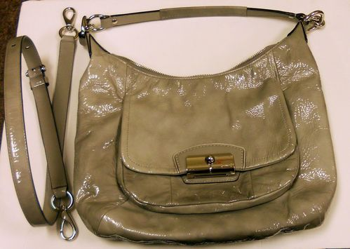 White Patent Leather Purse Rare Vine Style Sporty Sophisticated Great