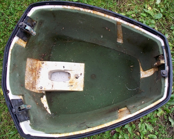 Details About Johnson Evinrude 115 Hp V4 Outboard Motor Cover Hood Cowling Shroud
