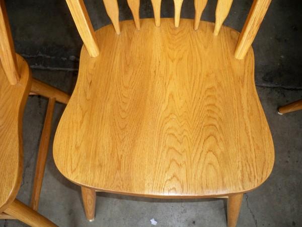 Oak Dining Set Table Leaf Six Chairs Golden Oak 48