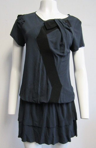 Red Valentino Blue Tunicdress With Black Bow Detail Sz Sm Ebay