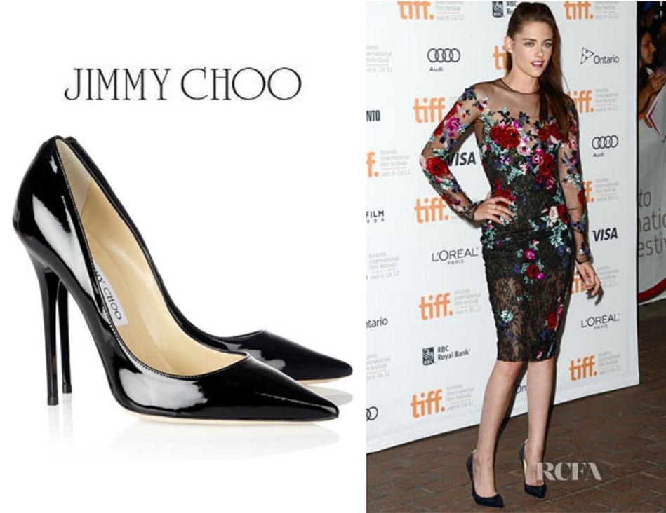 1dc51c9be76 JIMMY CHOO black patent leather  Anouk  stiletto pointed toe pumps sz 38  8