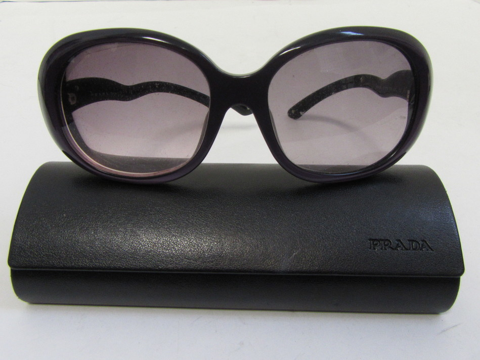 6d4b8f342b88 PRADA Sunglasses SPR08L 57 18 72K-4V1 130 2N Purple Black with Black Case