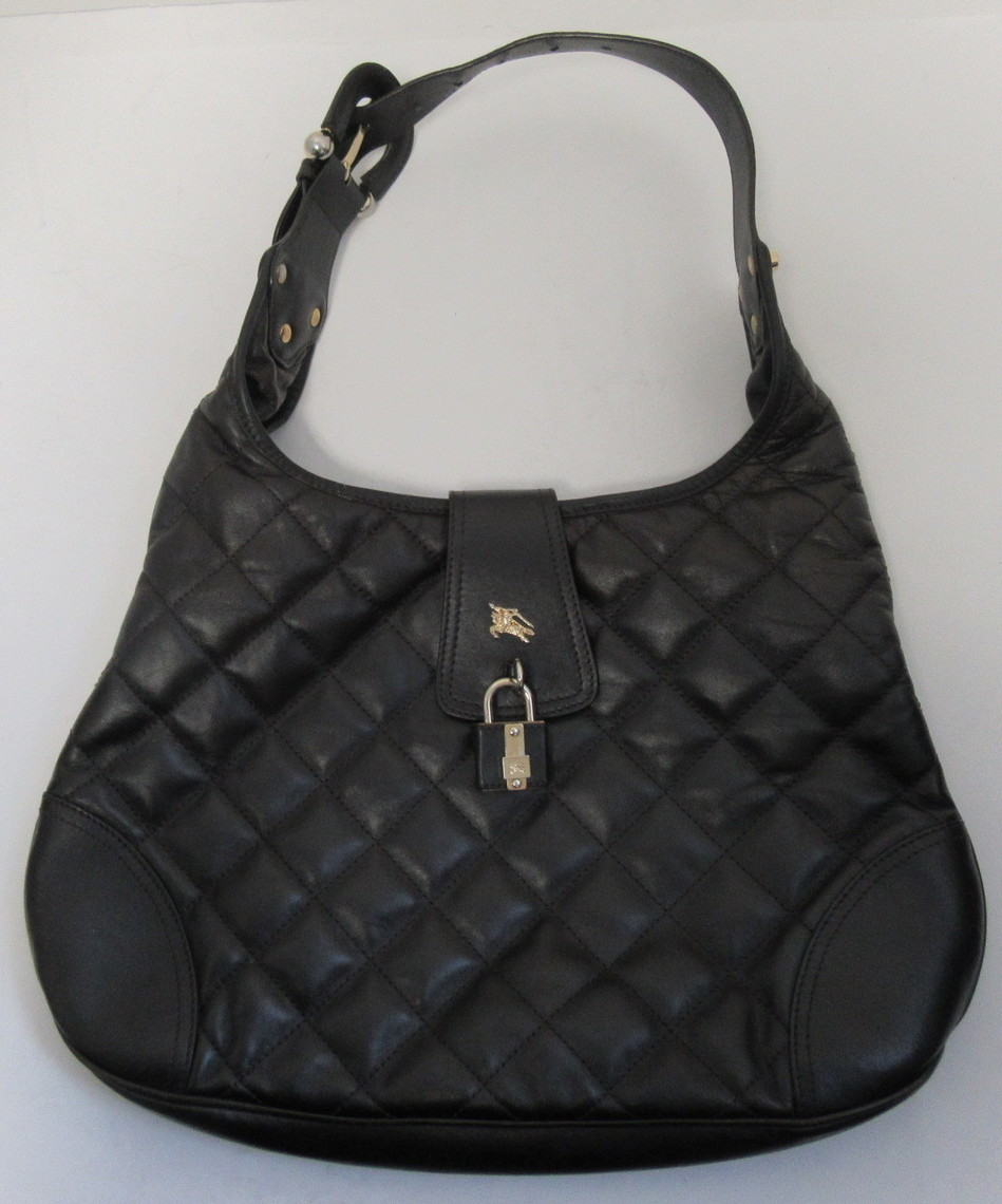 4379a32fe02a BURBERRY Brown Brooke Hobo Quilted Leather Bag