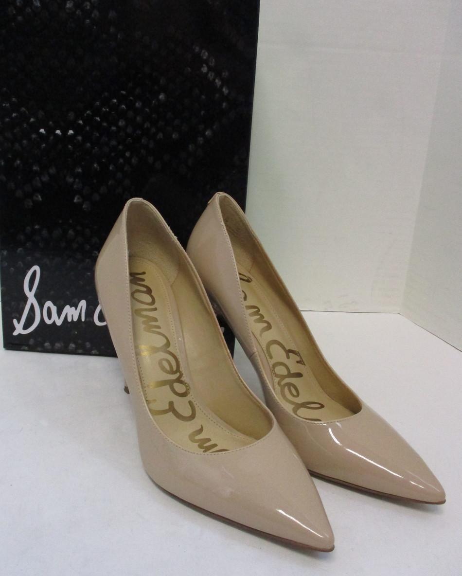 d2a00d5def9c5a Details about SAM EDELMAN hazel nude patent pointy toe heel shoe size 7