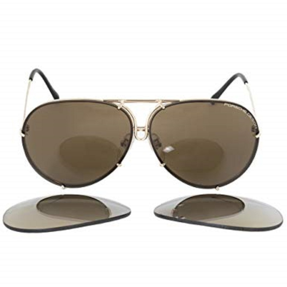 3097db19821 Porsche Design P8978 A 63 Aviator Gold Titanium Frame Men s Unisex  Sunglasses