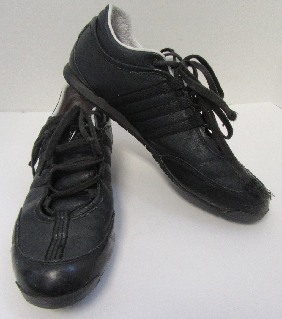 f318cdee19252f Details about YOHJI YAMAMOTO Y-3 Men s Black Sneakers with White Trim Size  10.5