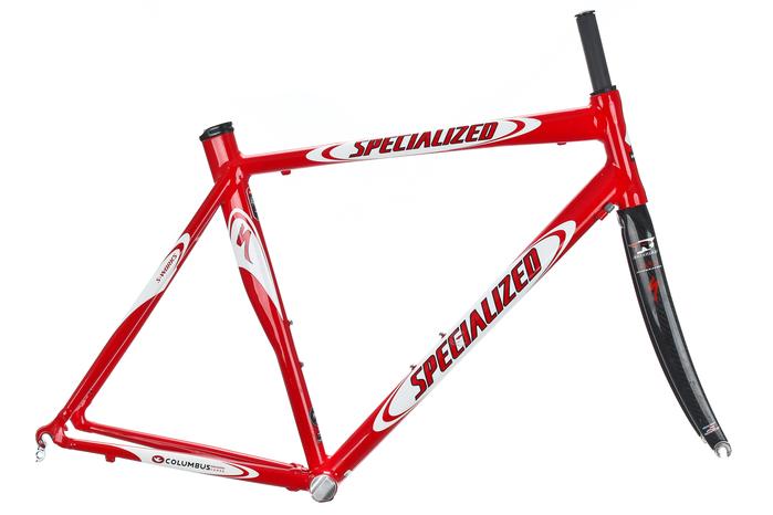 2002 Specialized S Works E5 Road Bike Frame Set 58cm LARGE Aluminum Ouzo Pro