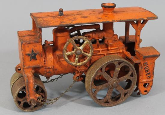 3 Antique Cast Iron Hubley & Arcade Toys, Mack Dump Truck ...