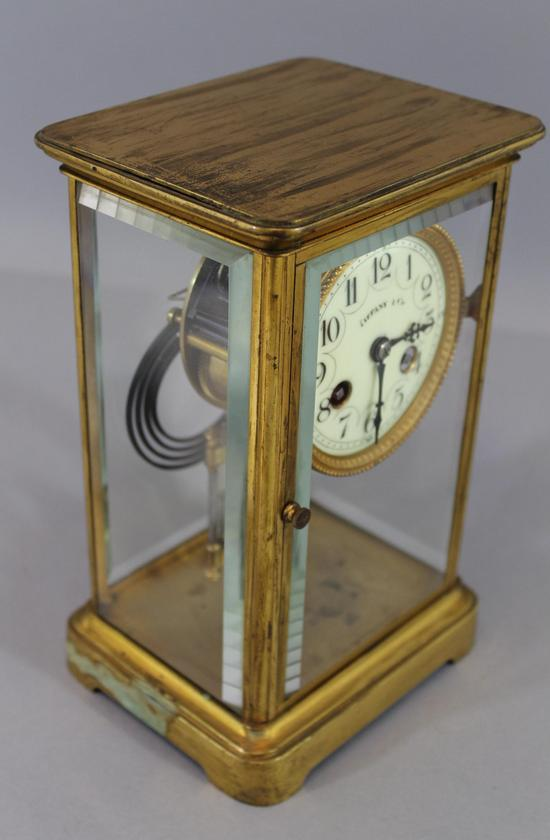 Small Antique TIFFANY & CO French Crystal Regulator Brass ...