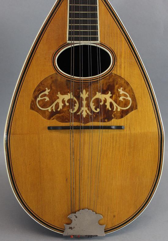 Small Antique Inlaid Rosewood 8 String Bowl Back Mandolin