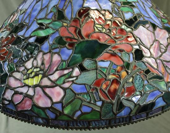Signed Quot Somers Tiffany Quot Hanging Stained Glass Ceiling