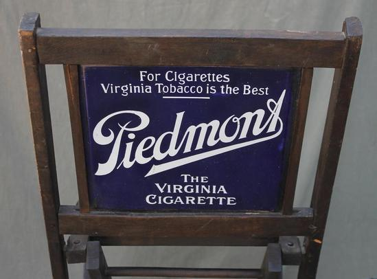 Antique 2 Sided Piedmont Virginia Cigarettes Folding Chair