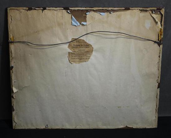 Rare Antique J J Chabridon Artist Proof Etching Print
