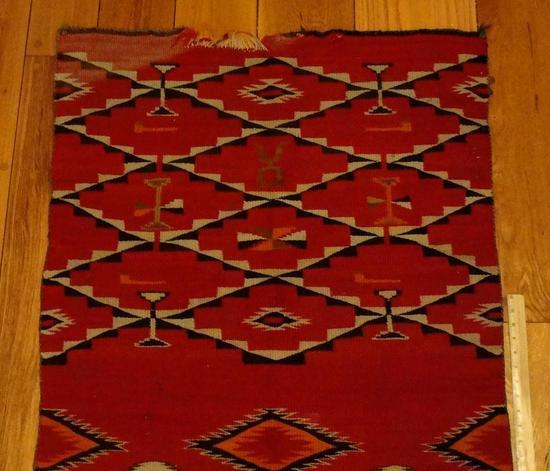 Antique 1880s Western Germantown Navajo Indian Double