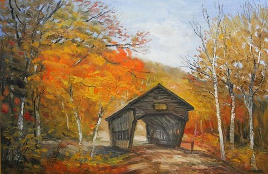 Richard G Packer New Hampshire Albany Covered Bridge