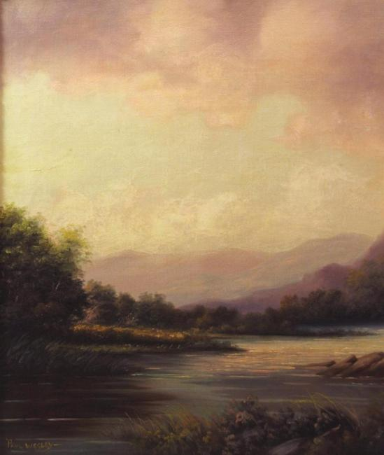 Antique Paul Wesley Catskill Mountain Hudson River Ny