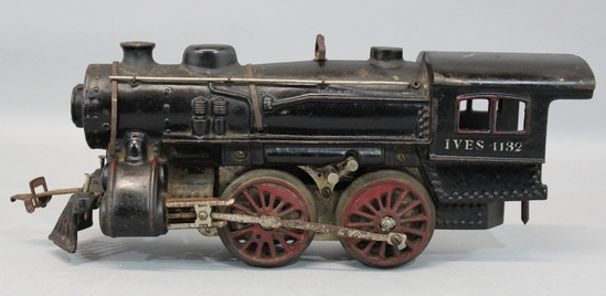 Nycrr Cast Iron Train: Antique Pre War IVES #1132 Cast Iron Steam Locomotive
