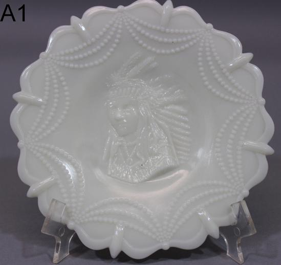 Antique Authentic White Milk Glass Plates, Westmoreland ...