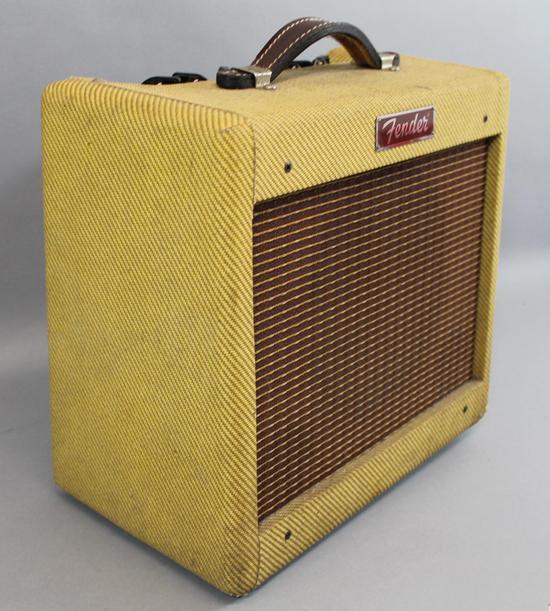 small vintage fender bronco pr 258 tweed electric guitar amplifier works ebay. Black Bedroom Furniture Sets. Home Design Ideas