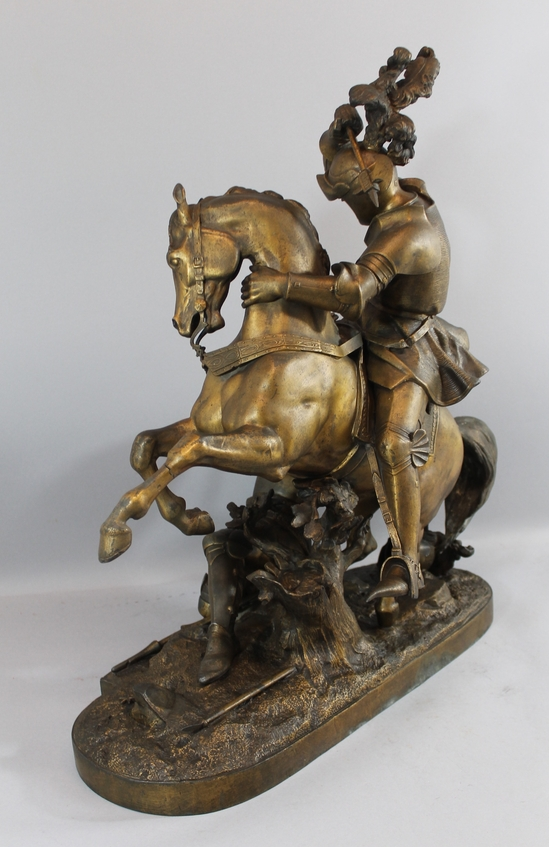 Bill Of Sale Virginia >> LARGE & Impressive Antique Spelter Sculpture, Russian ...