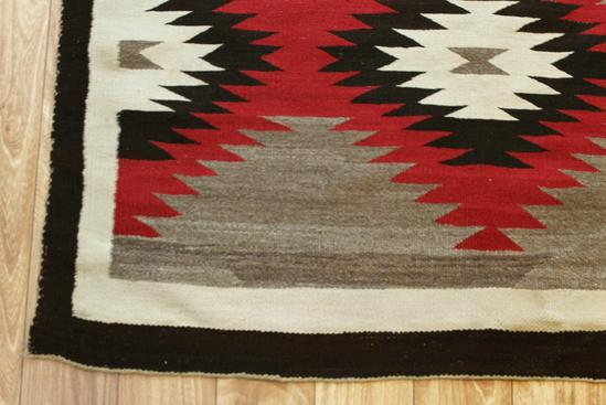 Antique Circa 1900 Finely Hand Woven Navajo Wool Rug No
