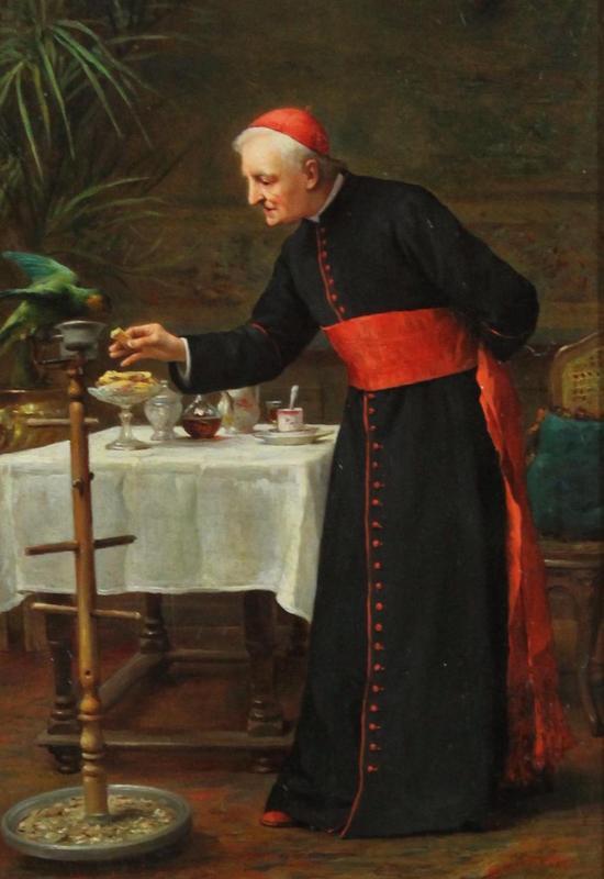 19thC Antique Charles Schreiber Oil Painting, Catholic ...