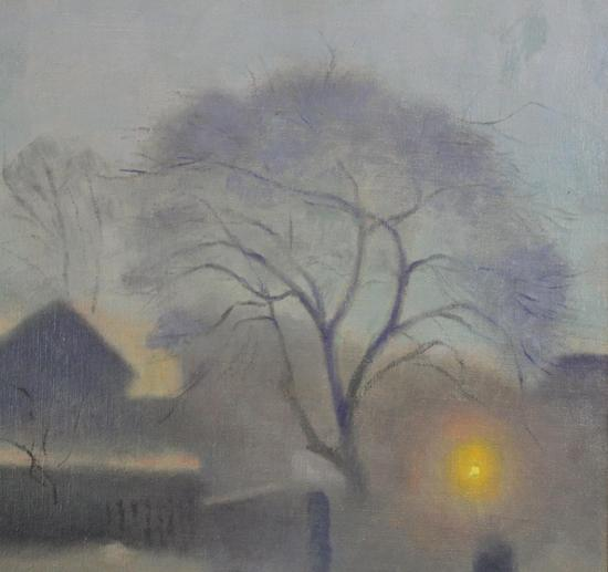 Professional Guaranteed House Painting Western Springs: Vintage GLENN PEARCE Atmospheric Pennsylvania Winter