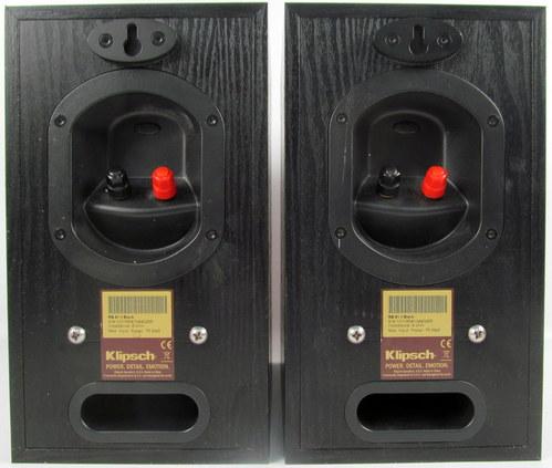 pair klipsch reference rb 51 ii bookshelf speakers w. Black Bedroom Furniture Sets. Home Design Ideas