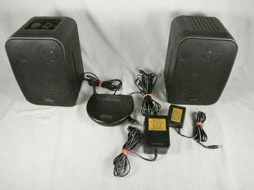 2 advent wireless speakers 31682 k965 with wires. Black Bedroom Furniture Sets. Home Design Ideas