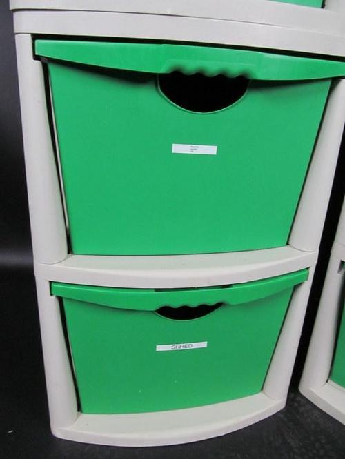 Lot 4 Sterilite 2 Drawer Storage Drawers Recycling
