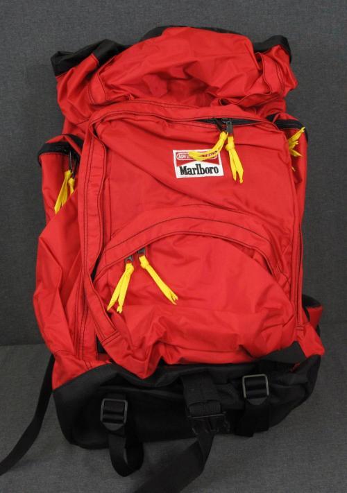Marlboro Gear Lot 2 Hiking Trail Backpack Pack Travel Red