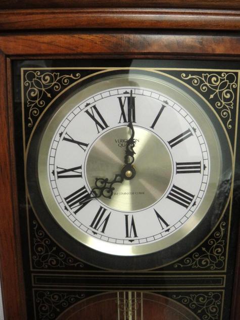 Verichron Quartz Wall Hanging Clock W Westminster Chime
