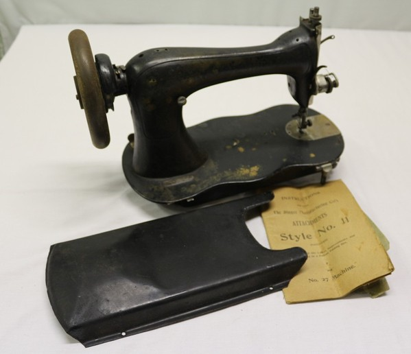 Antique Singer Sewing Machine with Manual for Parts or ...