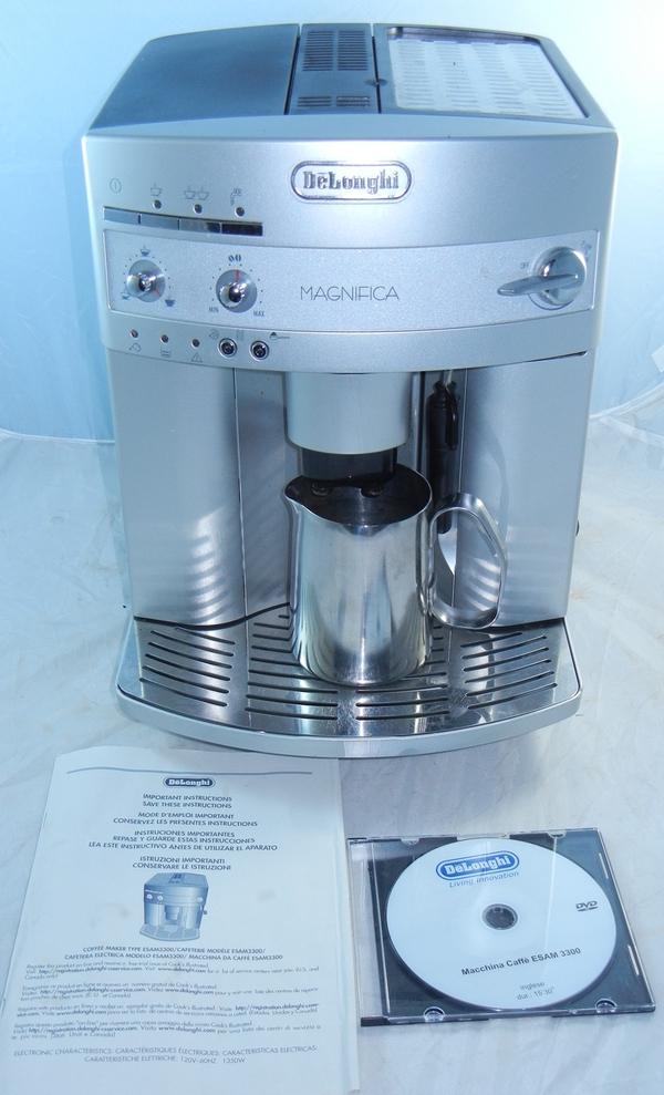 delonghi magnifica espresso coffee machine model esam 3300. Black Bedroom Furniture Sets. Home Design Ideas