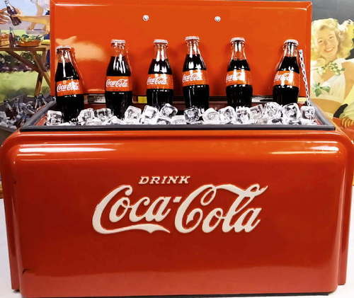 vintage 1938 art deco westinghouse 39 half junior 39 coke coca cola ice chest cooler ebay. Black Bedroom Furniture Sets. Home Design Ideas