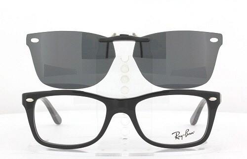 e93e9897091 ... authentic custom fit polarized clip on sunglasses for ray ban 5228  50x17 rb5228 rayban e1e05 49690