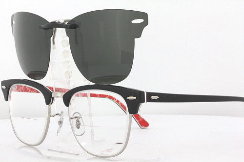 f85a2a3d834 ... netherlands custom fit polarized clip on sunglasses for ray ban  clubmaster 3016 51x21 rb3016 e6d84 6ac3c