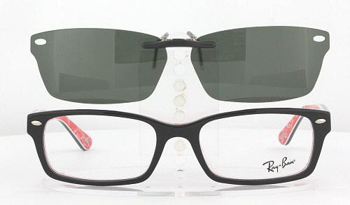 b775358e8b ... usa custom fit polarized clip on sunglasses for ray ban 5206 54x18  rb5206 dd331 c50d6